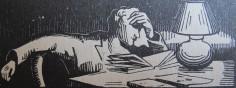 """Léonev. Bois gravé. """"Théo Varlet. Sa vie-Son oeuvre"""". Querqueville: L'Amitié par le Livre, 1939: 71"""