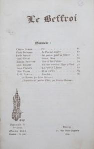 Le Beffroi. Fascicule 52, 6me année. Mars 1905