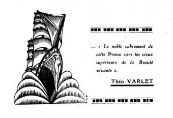 La Proue nº 35. Recueil à caractère anthologique pour l'année 1935. Vers de Théo Varlet.