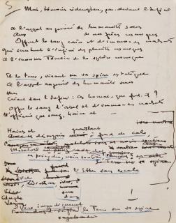 A la Proue. Sonnet manuscrit de Théo Varlet. Feuillet nº 5
