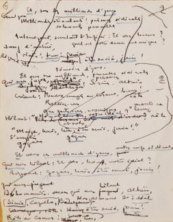 A la Proue. Sonnet manuscrit de Théo Varlet. Feuillet nº 6