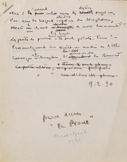 A la Proue. Sonnet manuscrit de Théo Varlet. Feuillet nº 8