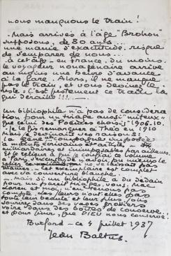 Lettre de Jean Baltus à Malcolm Mac Laren. 4 juillet 1938. Page 2