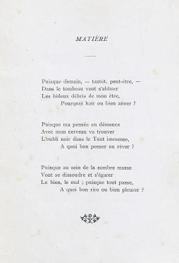 """Heures de Rêve. """"Matière"""". Courtoisie de la Médiathèque du Centre-Jean Lévy de la Bibliothèque Municipale de Lille."""