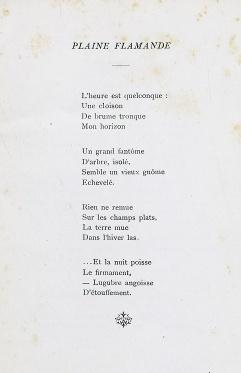 """Heures de Rêve. """"Pleine flamande"""". Courtoisie de la Médiathèque du Centre-Jean Lévy de la Bibliothèque Municipale de Lille."""