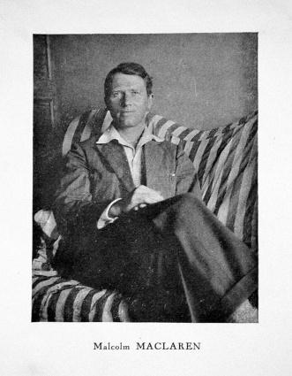 Malcolm MacLaren vers 1929. Separata de Douze sonnets et un poème de Théo Varlet. Lille: Mercure de Flandre, 1929