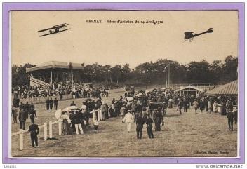 Bernay. Fête de l'Aviation du 14 Avril 1912 (image prise de www.delcampe.net).