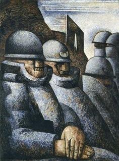 La Guerre. Marcel Gromaire, 1925. Huile sur toile. Musée d'art moderne de la Ville de Paris