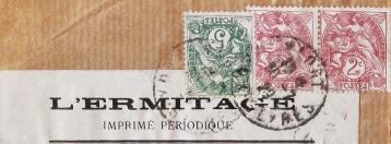 Enveloppe cachetée de la revue l'Ermitage. 1929.