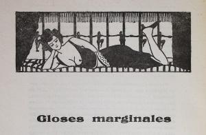"""Varlet, Théo. """"Gloses marginales"""". Le rouge et le noir. Cahier spécial sur le cinéma. Henri Lamblin directeur. Paris: Editions le rouge et le noir, juillet 1928. Bandeaux: 76."""