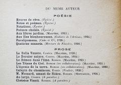 Théo Varlet: Le roc d'or. Paris: Plon, 1927. Ouvrages du même auteur.
