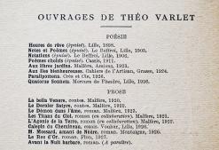 Théo Varlet: Ad Astra et autres poèmes (1926-1928). Paris: Albert Messein, 1929. Ouvrages de Théo Varlet.